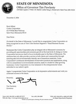 Letter from Tim Pawlenty - Governor of Minnesota